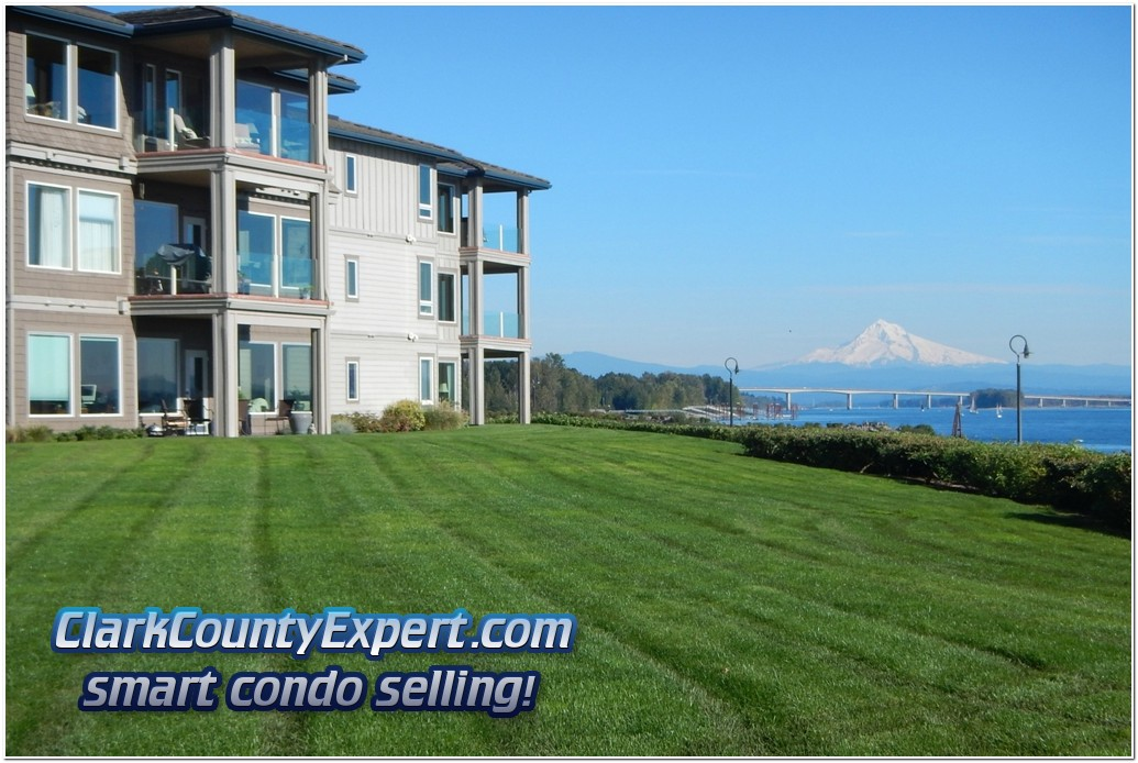 Tidewater Cove Luxury Condos on the Columbia River with Mt. Hood
