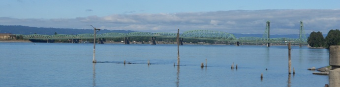 View of the Washington-Oregon I-5 Bridge from the Vancouver Waterfront - by John Slocum, Realtor