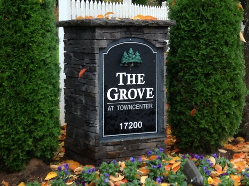 Entrance to The Grove at Towncenter Condos, Fishers Landing, Vancouver WA